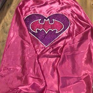 NWT girls Batman Batgirl Cape